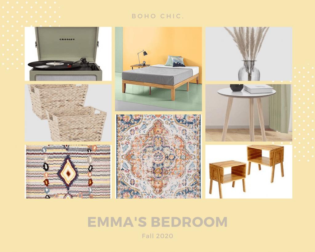 Emma's Apartment Bedroom Mood Board