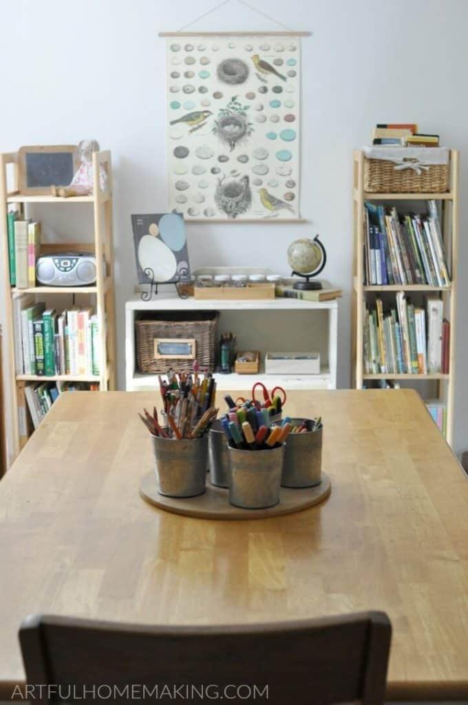 artful homemaking homeschool room