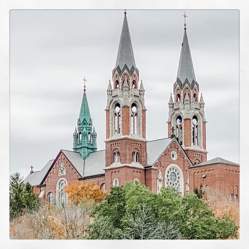 Holy Hill Basilica that we discovered as a couple on our Satur-date