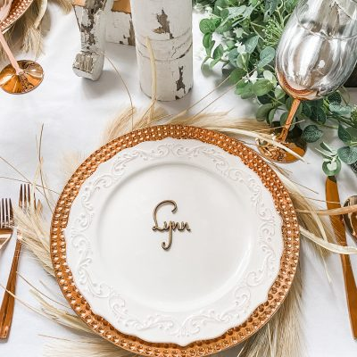 Tablescape for Thanksgiving this year