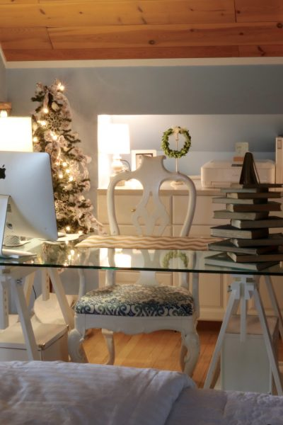 Blogging Desk at Christmas