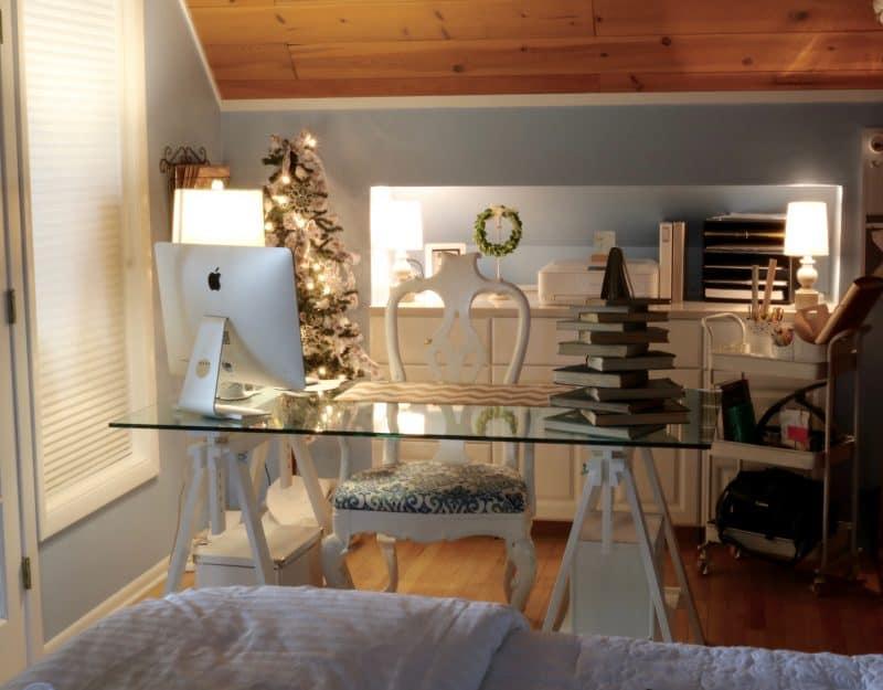 Blogging Desk at Christmas