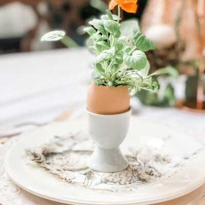 How to Make a Beautiful Easter Tablescape Very Inexpensively