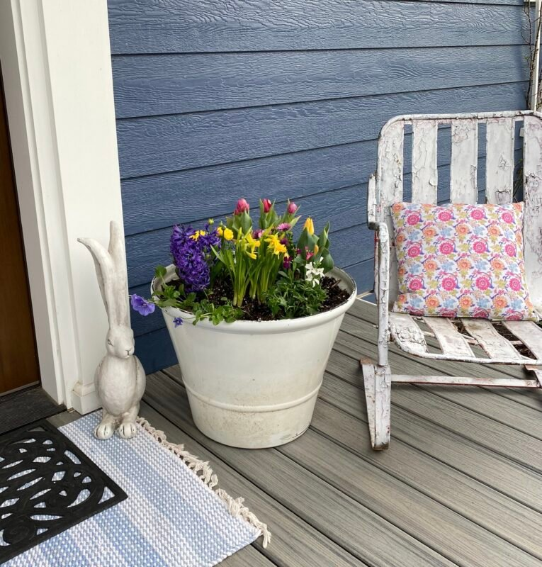 Porch Spring Pots