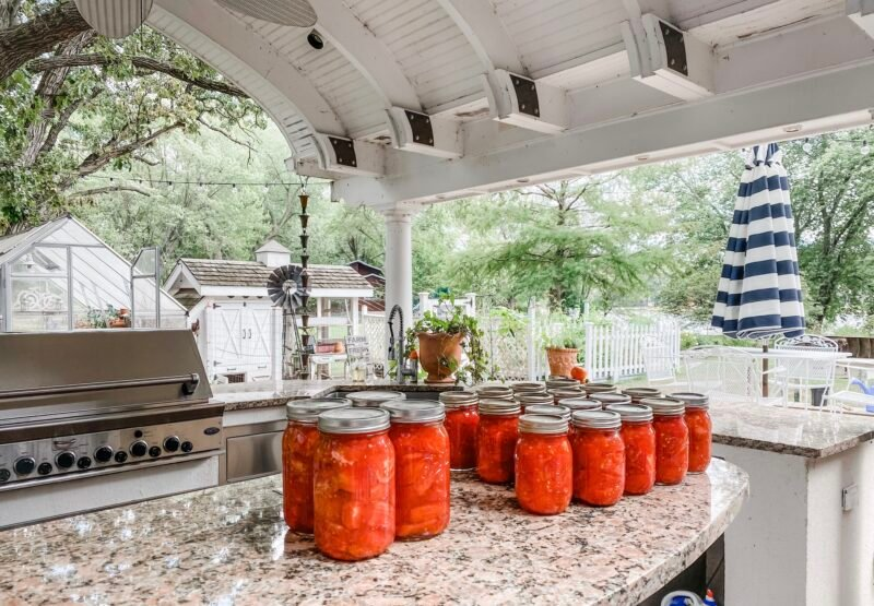 Preserving Food in Outdoor Kitchen