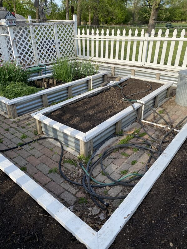 This is a picture of my veggie garden ready to be planted