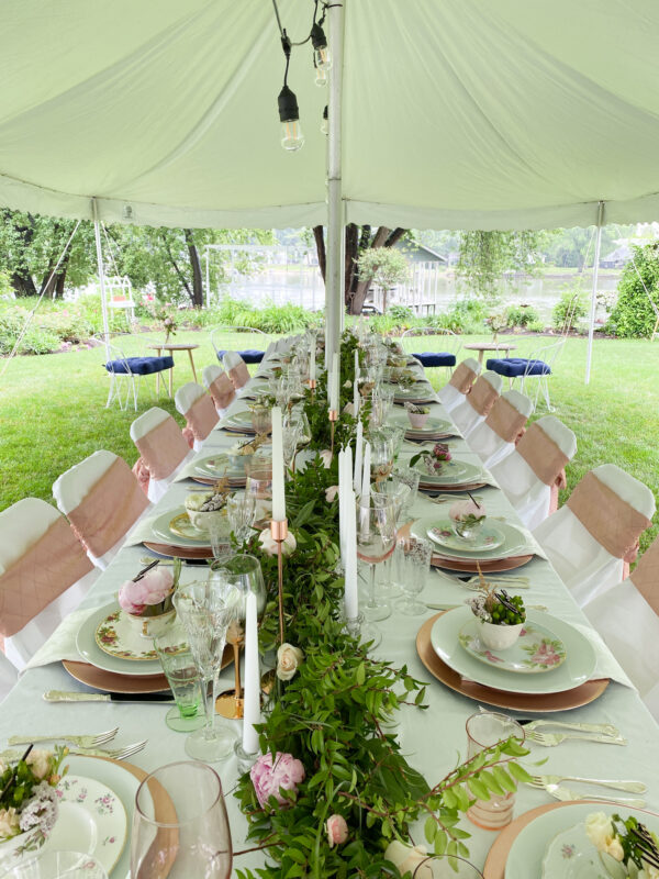 Wedding Table with Vintage China
