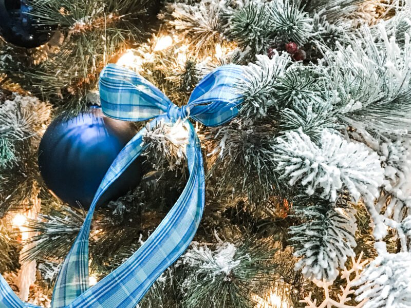 Blue Plaid Ribbon