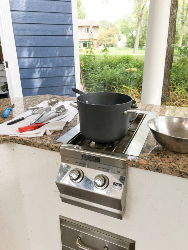 Boiling Water for Blanching