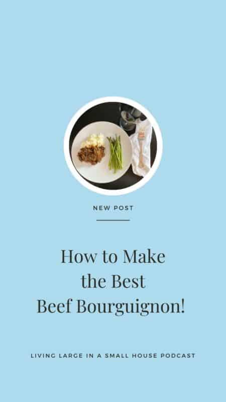Pinterest Graphics for Beef Bourguignon