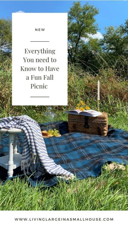 Pinterest Pin for Fall Picnic Blog Post