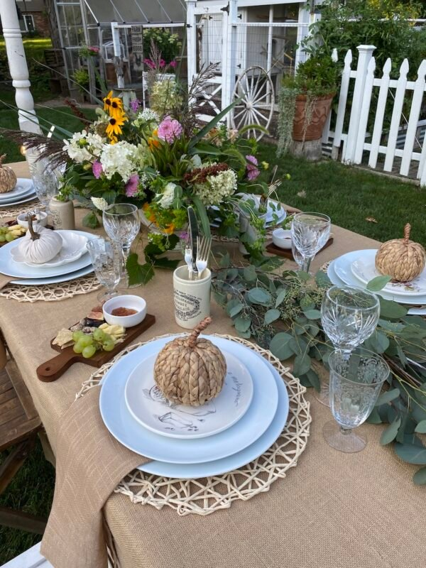 View of a place setting at the table